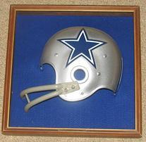 """1970'S Riddell Helmet Plaque Cowboys 15"""" X 15"""" Half Helmet"""