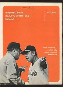 1971 MLB Baseball Program New York Yankees at Baltimore