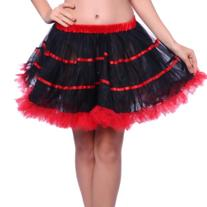 1980s Vintage Retro Swing Ruffled Layered Striped Tulle Rave
