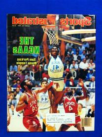 1984 Sports Illustrated March 26 Sam Perkins  Excellent