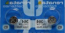 2 Renata 364 SR621SW Silver Oxide Zero Mercury Electronic