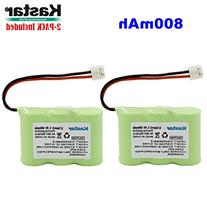 Kastar 2-PACK 2/3AA 3.6V 800mAh EH Ni-MH Rechargeable
