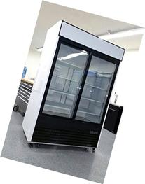 2 Door Sliding Glass Merchandiser Reach In Refrigerator