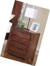 2-Drawer Night Stand in Brown