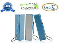 2 Pack - 2600 mAh Portable Backup Battery Charger USB Power