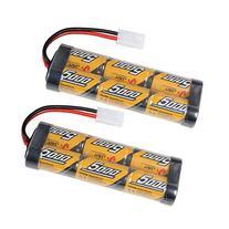 2 Pack 7.2v 5000mAh NiMh Rechargable RC Battery Packs for RC
