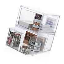 2-Pack Premium Quality Stackable Cosmetic Storage and Makeup