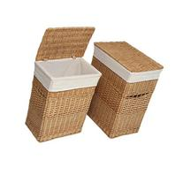 2 Piece Wicker Hamper Set Color: Natural