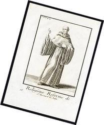 2 Antique Religious Prints-MONK-NUN-ORDER OF SAINT BERNARD-