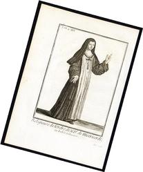 2 Antique Religious Prints-ORDER OF OUR LADY OF THE
