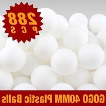 GOGO Beer Pong Balls, 40mm Plastic Ball, 150 Pieces Bag -