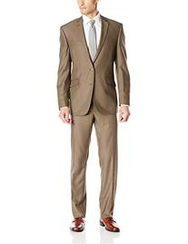 Kenneth Cole REACTION Men's 2 Button Notch Lapel Suit with