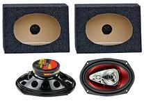 """2) Boss CH6940 6x9"""" 500W 4-Way Car Speakers + 2) QTW6X9"""