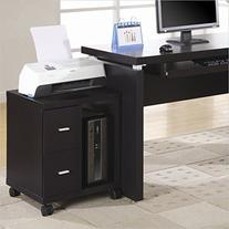 Monarch Specialties 2-Drawer Computer Stand on Castors,