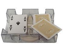 2 Deck Revolving Rotating Canasta Playing Card Tray