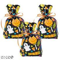 24 Halloween Cellophane Goody Bags