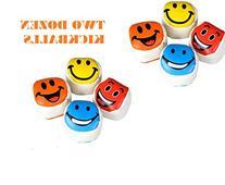 2 Dozen SMILEY FACE Kickballs ~ Fun 2'' Footbags Kickballs