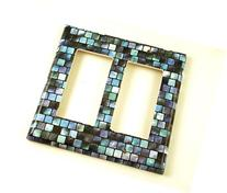 2 Gang Double Rocker Decora Switch Plate, Tranquil Tiles