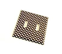2 Gang Toggle Switch Wall Plate Double Switch Plate , Polka