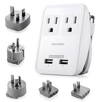 Poweradd  2-Outlet International Travel Charger Power AC
