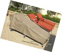 """2 pcs pack Patio Chaise covers with Velcro 84""""Lx30""""W"""