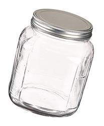 Anchor Hocking 2-Quart Cracker Jar with Brushed Aluminum Lid