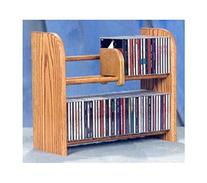 2 Row Dowel CD Rack