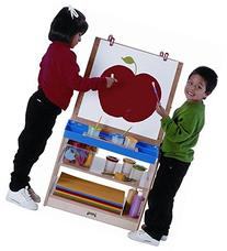 2-Sided Easel w Clips and Paint Tray for Kids