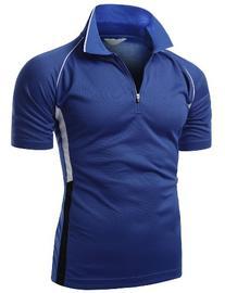Men 2 Tone Coolmax Collar Short sleeve Active Polo Tops