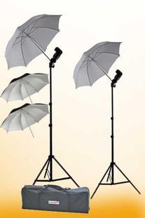 ePhoto 2 x off Camera flash Photography Umbrella Flash Shoe
