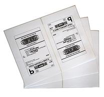 200 Shipping Labels White Blank Half Page Self Adhesive for