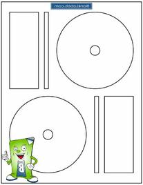 200 CD / DVD Labels Blank Labels Brand fits Memorex Full