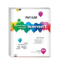 200 Packs Nuova Premium Thermal Laminating Pouches 9 x 11.5