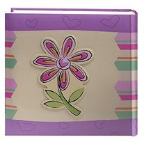 Pioneer Photo Albums 200-Pocket 3-D Striped Flower Applique