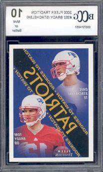 2000 Fleer Tradition #352 Tom Brady Rookie RC New England