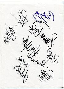 2002 US Solheim Cup Team Rare Golfer Golf Signed Autograph
