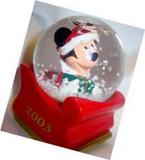 2003 JC Penney Mickey Mouse Christmas Miniature Snow Globe
