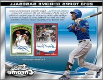 2013 Topps Chrome Baseball Hobby Box with 24 packs/box, 4