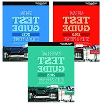 ASA Set of 3 2015 AMT Test Guide Books- General, Airframe,