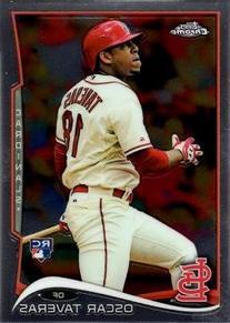 2014 Topps Chrome Baseball #19 Oscar Taveras Rookie Card