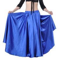 Dance Fairy Luxury Maxi Skirt Royal Blue Satin Long Skirt