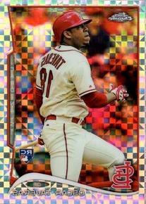 2014 Topps Chrome Xfractor #19 Oscar Taveras Baseball Rookie