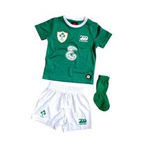 IRELAND 2015/16 Home Infant Rugby Kit, Green, 4 Years