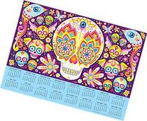 2015-2016 16-Month Sugar Skulls Calendar Poster