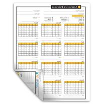 2017 Attendance Calendar - 50 Sheets/Package - On Cardstock