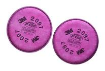 3M 2097 P100 Particulate Filter with Organic Vapor Relief, 1