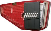 Oscar Schmidt 21 Chord Classic Autoharp - Red, OS21CQTR
