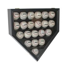 Solid Wood 21 Baseball Display Case Cabinet Holder, w/UV