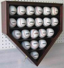 21 Baseball Display Case Cabinet Holder, w/UV Protection,