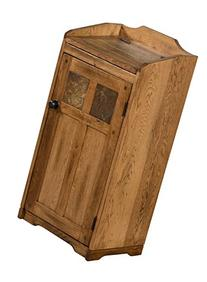 Sunny Designs 2110RO Sedona Trash Box, Rustic Oak Finish